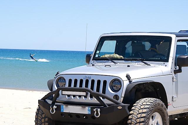 Le Rouet - Kitesurf - Jeep Wrangler