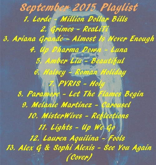 September 2015 Playlist