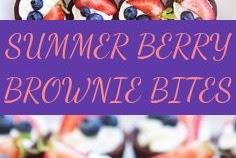 SUMMER BERRY BROWNIE BITES
