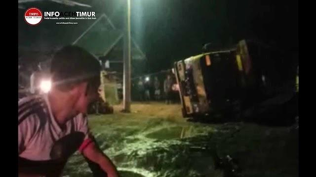 Mobil Colt Diesel Kembali Jadi Korban di Jalan Lintas Peureulak - Lokop