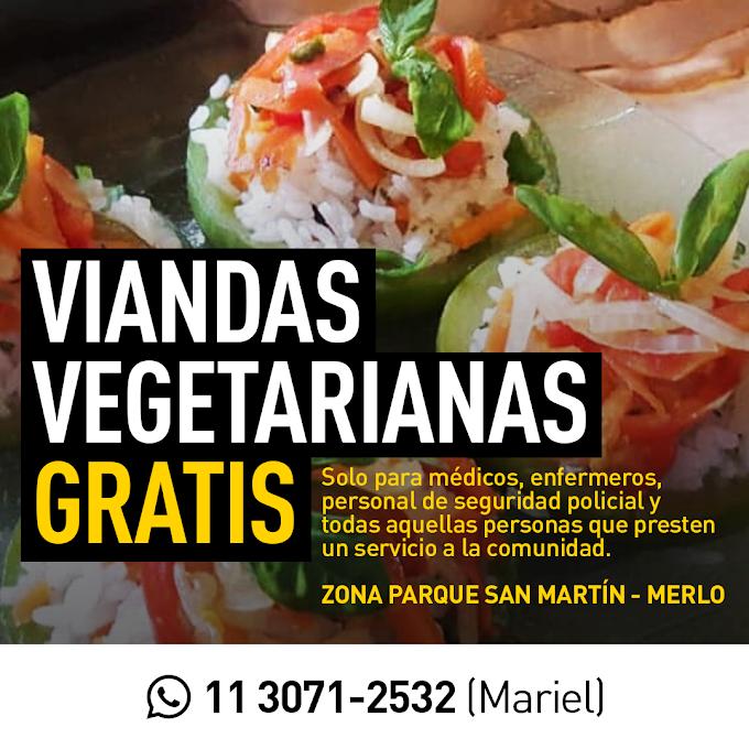 Flyer para Viandas Vegetarianas