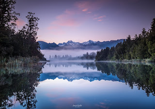 Lake Matheson, Mist, New Zealand, NZ, Reflections, Sunrise, West Coast