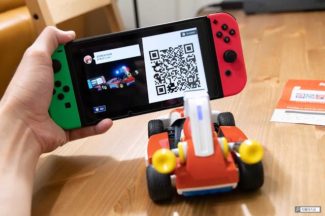 【遊戲】任天堂 AR 競速玩起來《瑪利歐賽車實況:家庭賽車場》 - 配對時,記得與鏡頭保持適當距離,也避免逆光掃描