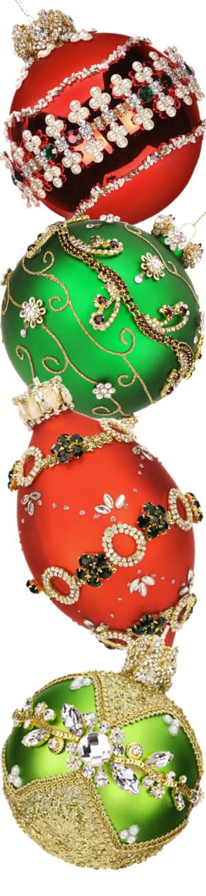 Mark Roberts Bejeweled Glass Ball Ornaments