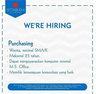 Lowongan Kerja Setiabudhi Supermarket Bandung Terbaru 2020