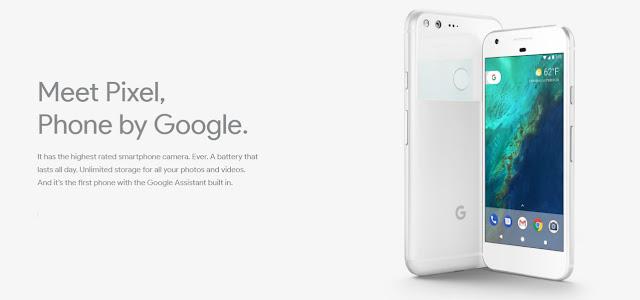 Spesifikasi lengkap dan harga terbaru Google Pixel