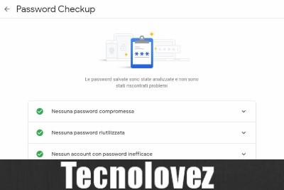 Google Password Checkup - Strumento che consente di valutare il grado di violabilità di una password