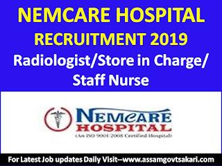 Nemcare Hospital Guwahati Recruitment