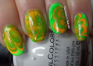 Watermarble Nail Art