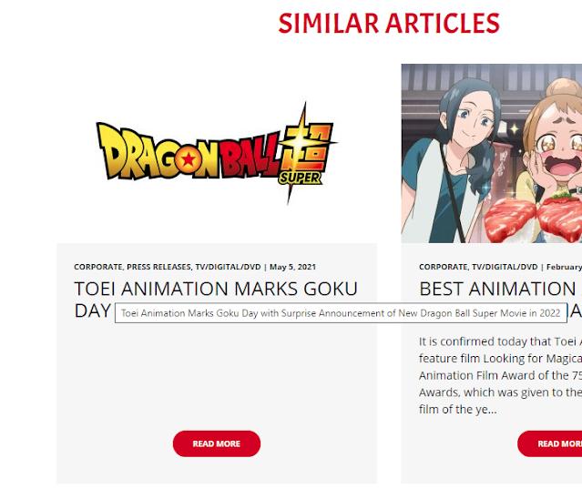 Toei Animation filtra anuncio de nueva película de DRAGON BALL SUPER para 2022