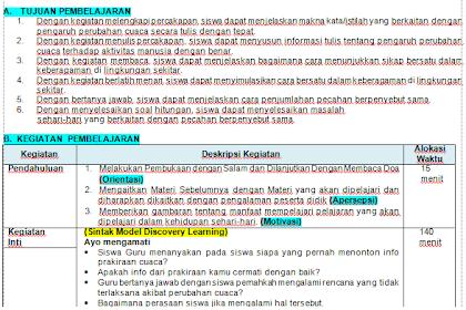 Rpp Kelas 3 Tema 5 Cuaca 1 Lembar Semester 2 K13 Revisi Terbaru 2020