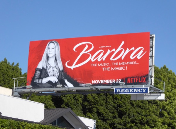 Barbra Music Memries Magic billboard