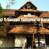Top 5 Sacred Temples in Kerala