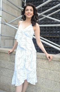 Kajal Agarwal At MLA Movie Promotions Latest Stills