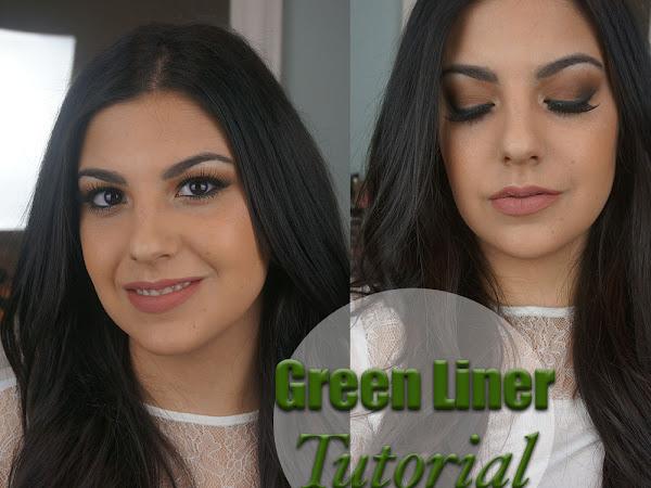 Mac Cosmetics Green Eye Liner | Fall Makeup Look