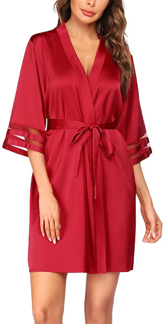 Red Satin Robes For Women