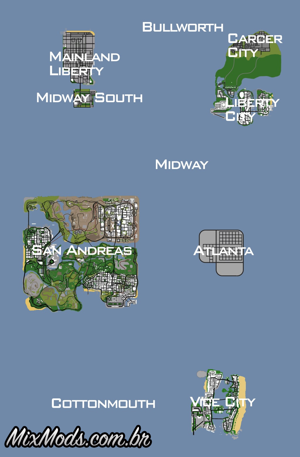 gta sa mod gta underground sa vc lc map game