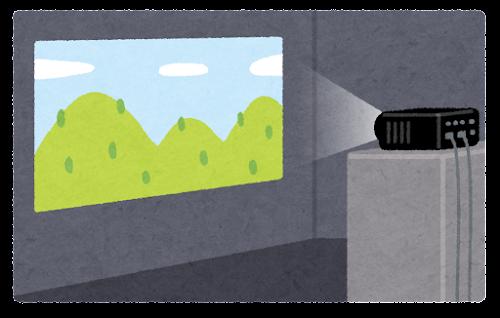 プロジェクターの投写のイラスト