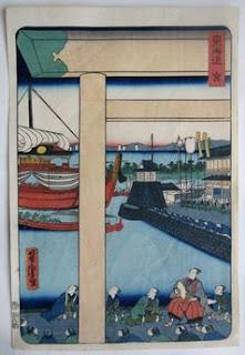 歌川芳虎 東海道 宮の浮世絵版画販売買取ぎゃらりーおおのです。愛知県名古屋市にある浮世絵専門店。
