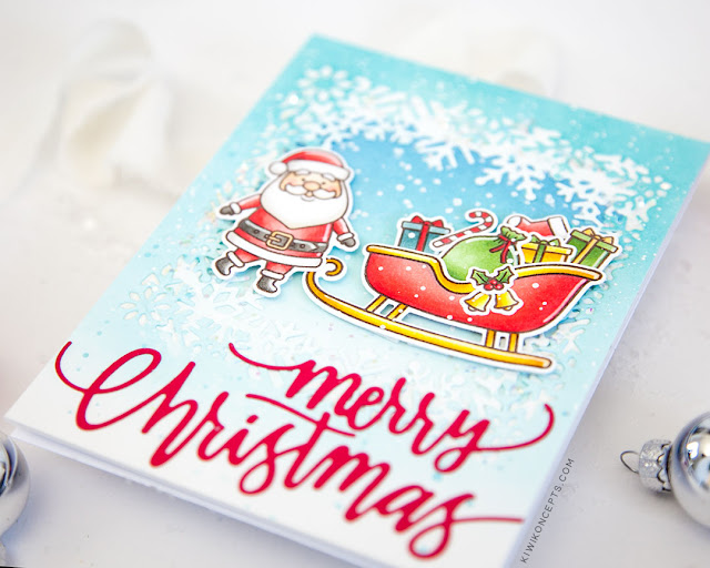 Sunny Studio Stamps: Christmas Garland Frame Dies Santa Claus Lane Layered Snowflake Frame Dies Christmas Cards by Keeway Tsao
