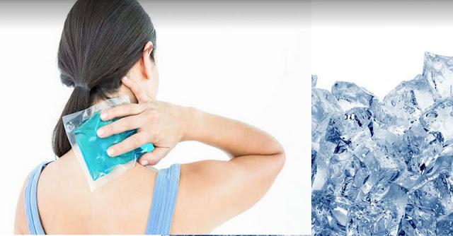 manfaat menaruh es batu di tengkuk leher