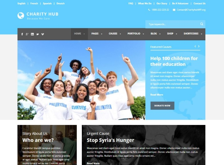 Top Non Profit Organizations >> Top 25 Non Profit Wordpress Themes For Charity Human Rights