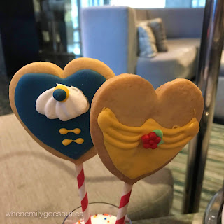 Belle and Beast Cookie Pops