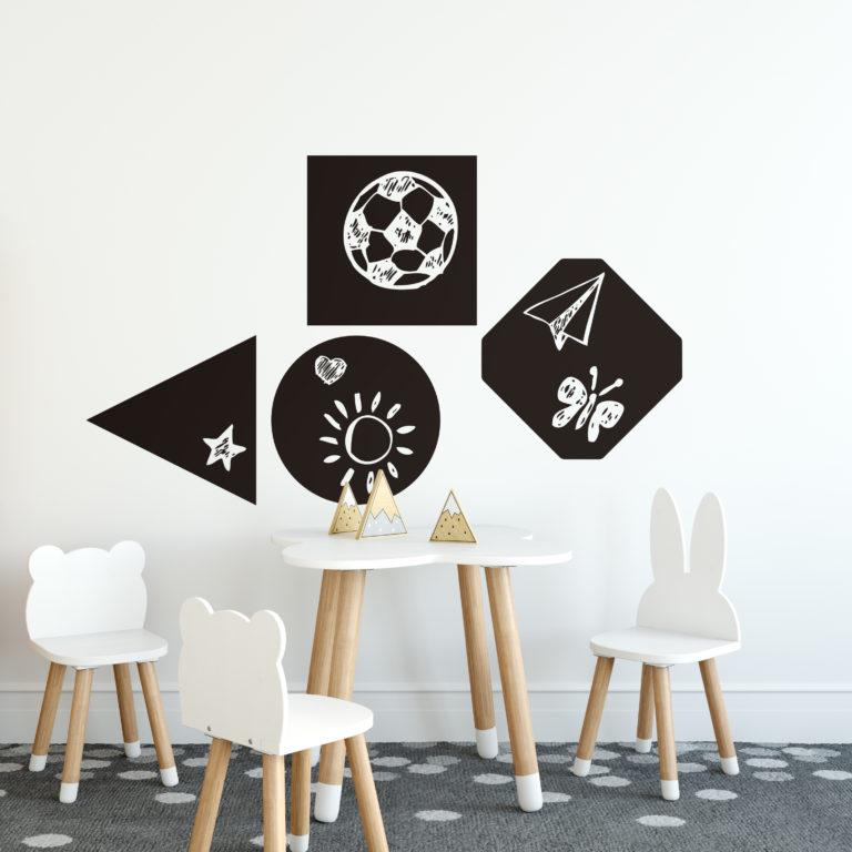 Naklejki z tablicą kredową do pokoju dziecka