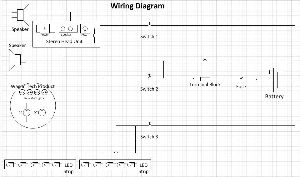 My Custom Cooler Radio  Wiring Diagram