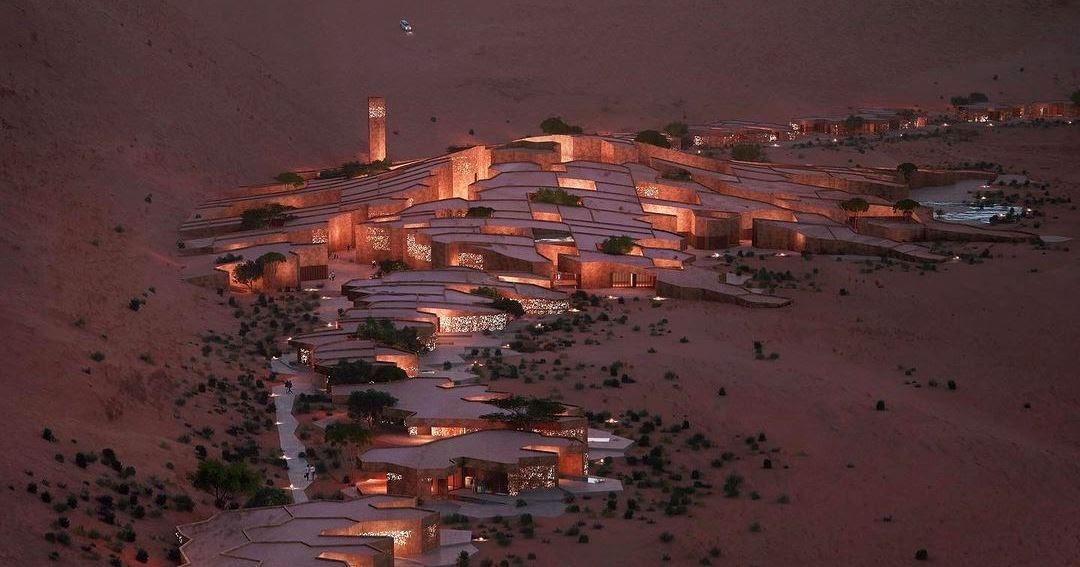 Village on partly terraformed Mars by Nuno Fontarra