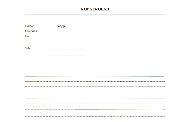 Contoh Format Surat Dinas di Sekolah
