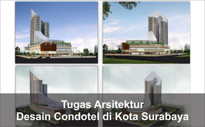 gambar desain condotel di surabaya