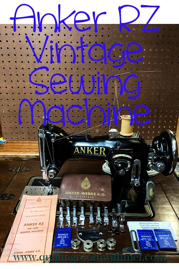 Learn more about the German made vintage sewing machine Anker RZ.
