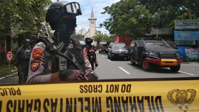 Densus 88 Gerebek Sejumlah Titik di Makassar Pasca Bom Bunuh Diri