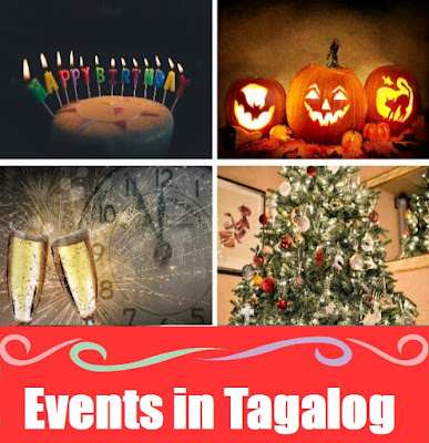 Events Word List in Tagalog