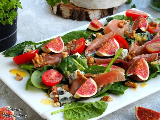 Sałatka ze szynką parmeńską i figami