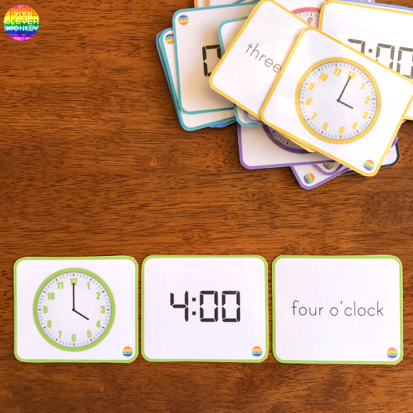 How to Teach Children to Tell Time - teaching ideas and printable resources to use when teaching time to young children. Includes  editable clock face cards perfect for use with our visual timetable cards | you clever monkey
