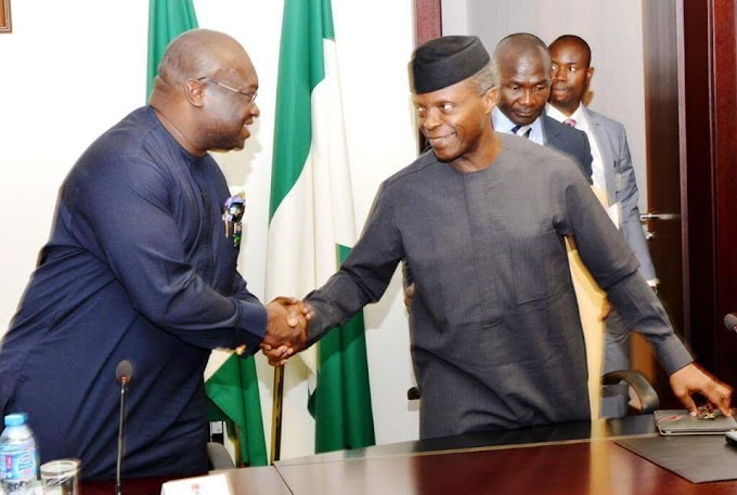 "Osinbajo commends Ikpeazu's ""smart business approach to governance"""