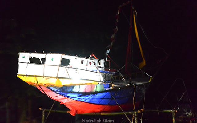 Ada juga yang membuat kapal nelayan