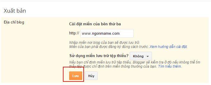 Hướng dẫn cài đặt trỏ tên miền cho Blogger - 3