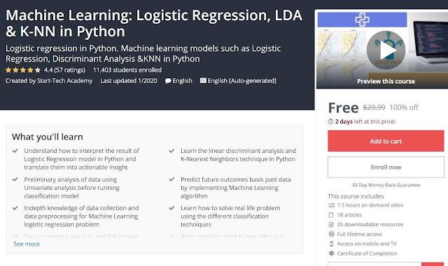 Machine Learning: Logistic Regression, LDA & K-NN in Python