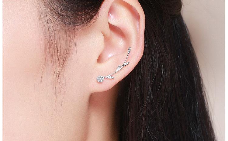 造型風夏夜精靈 925純銀鋯石耳環
