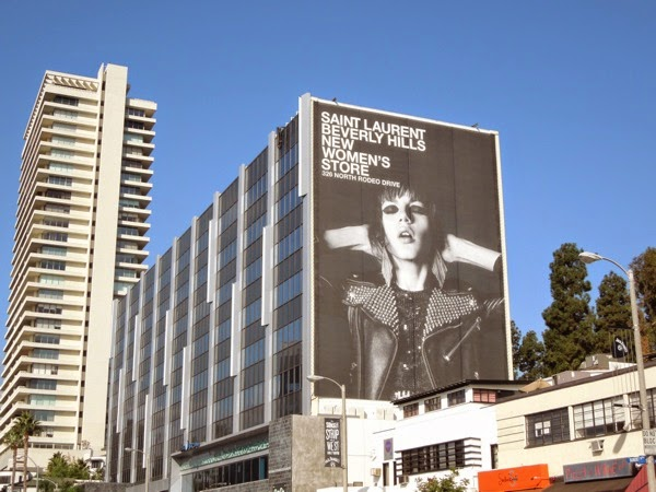 Giant Saint Laurent New Beverly Hills Women's Store billboard