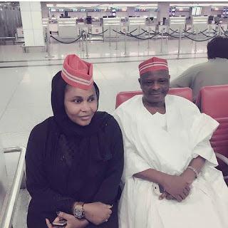 Jaruma Halima Atete ta gamu da masoyin ta Sanata Kwankwaso a Dubai