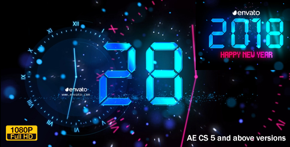 VIDEOHIVE NEW YEAR COUNTDOWN 2018 - Free Download After Effect