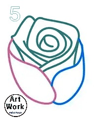 افكار رسومات اطفال بسيطة رسم زهرة خطوة بخطوة بالرصاص