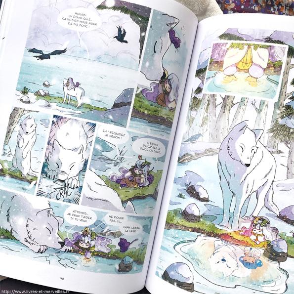 Entre Neige et Loup - bd - éditions Jungle