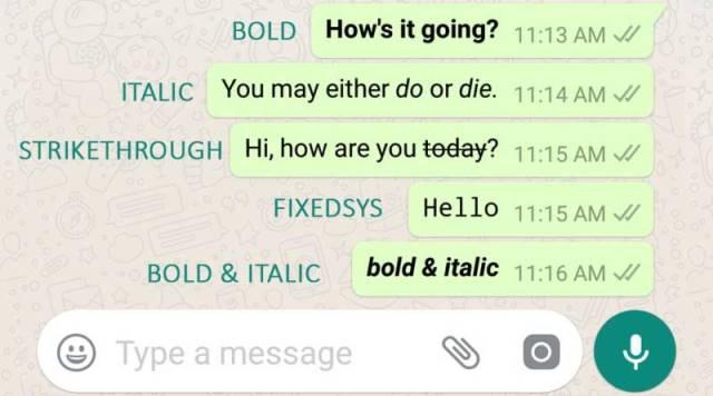 membuat teks tebal miring teks coret di whatsapp terbaru