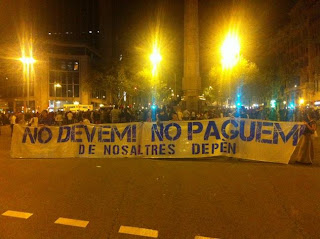 Unos 2000 indignados se unen a la jornada de #GlobalNoise en #Barcelona #13OBcn