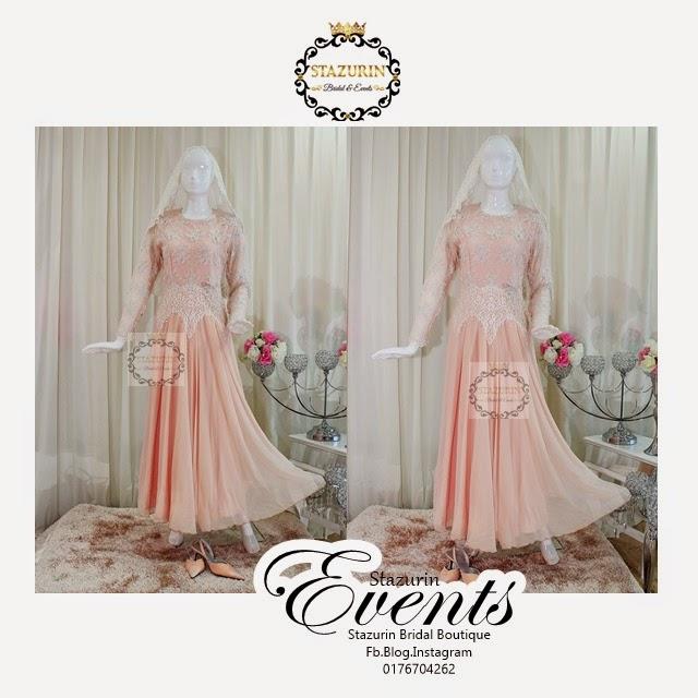 Baju Sanding Tema Warna Peach Lembut 2017 Attire Eksklusif Pastel